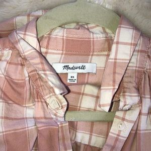 Madewell flannel checkered shirt